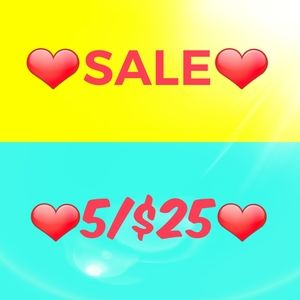 ❤️5/$25❤️ SALE 🔥 Like For Updates 🔥